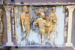 Ivory Frieze from a piece of furniture or throne with Romans and Warriors. 2nd Cent AD, Ephesus Selcuk Museum