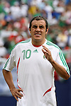 10 June 2007: Mexico's Cuauhtemoc Blanco. The Honduras Men's National Team defeated the National Team of Mexico 2-1 at Giants Stadium in East Rutherford, New Jersey in a first round game in the 2007 CONCACAF Gold Cup.