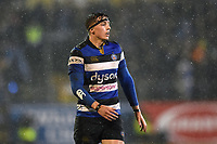 Darren Atkins of Bath Rugby looks on during a break in play. Anglo-Welsh Cup Semi Final, between Bath Rugby and Northampton Saints on March 9, 2018 at the Recreation Ground in Bath, England. Photo by: Patrick Khachfe / Onside Images
