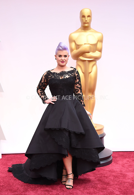WWW.ACEPIXS.COM<br /> <br /> February 22 2015, LA<br /> <br /> Kelly Osbourne arriving at the 87th Annual Academy Awards at the Hollywood &amp; Highland Center on February 22, 2015 in Hollywood, California.<br /> <br /> By Line: Z15/ACE Pictures<br /> <br /> <br /> ACE Pictures, Inc.<br /> tel: 646 769 0430<br /> Email: info@acepixs.com<br /> www.acepixs.com