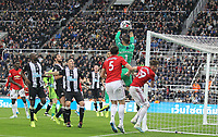 Goalkeeper Martin Dubravka of Newcastle United gathers late on during the Premier League match between Newcastle United and Manchester United at St. James's Park, Newcastle, England on 6 October 2019. Photo by J GILL / PRiME Media Images.