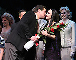 "Merwin Foard & Bebe Neuwirth.taking bows during the Broadway Opening Night Curtain Call for ""The Addams Family"" at the Lunt-Fontanne Theatre in New York City..April 8, 2010.© Walter McBride"