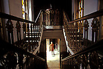 12/1/2006--Kolkata (Calcutta), India..Manmathanath Ghosh's house, inside stair view, Pathuriaghata Street, North Calcutta...All photographs ©2003 Stuart Isett.All rights reserved.