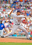 3 July 2005: Luis Ayala, relief pitcher for the Washington Nationals, on the mound against the Chicago Cubs. The Nationals defeated the Cubs 5-4 in 12 innings to sweep the 3-game series at Wrigley Field in Chicago, IL. Mandatory Photo Credit: Ed Wolfstein