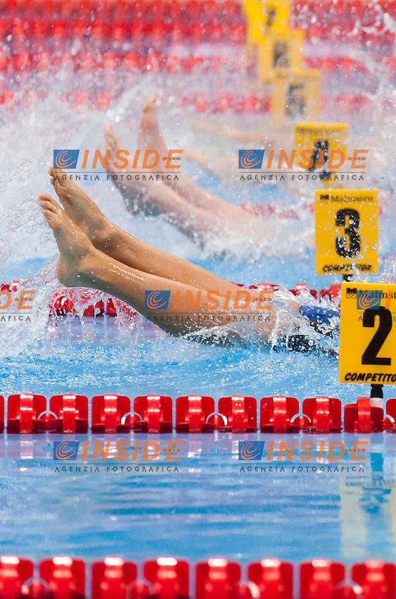 ZEQIRI Rita KOS<br /> London, Queen Elizabeth II Olympic Park Pool <br /> LEN 2016 European Aquatics Elite Championships <br /> Swimming<br /> Women's 100m backstroke preliminary  <br /> Day 10 18-05-2016<br /> Photo Giorgio Perottino/Deepbluemedia/Insidefoto