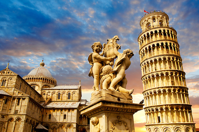 Catherderal and Leaning Tower - Piazza  del Miracoli - Pisa - Italy
