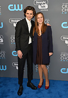Timothee Chalamet &amp; Pauline Chalamet at the 23rd Annual Critics' Choice Awards at Barker Hangar, Santa Monica, USA 11 Jan. 2018<br /> Picture: Paul Smith/Featureflash/SilverHub 0208 004 5359 sales@silverhubmedia.com