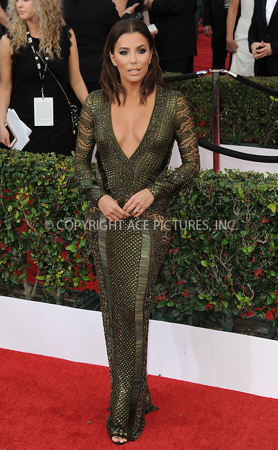 WWW.ACEPIXS.COM<br /> <br /> January 30 2016, LA<br /> <br /> Eva Longoria arriving at the 22nd Annual Screen Actors Guild Awards at the Shrine Auditorium on January 30, 2016 in Los Angeles, California<br /> <br /> By Line: Peter West/ACE Pictures<br /> <br /> <br /> ACE Pictures, Inc.<br /> tel: 646 769 0430<br /> Email: info@acepixs.com<br /> www.acepixs.com