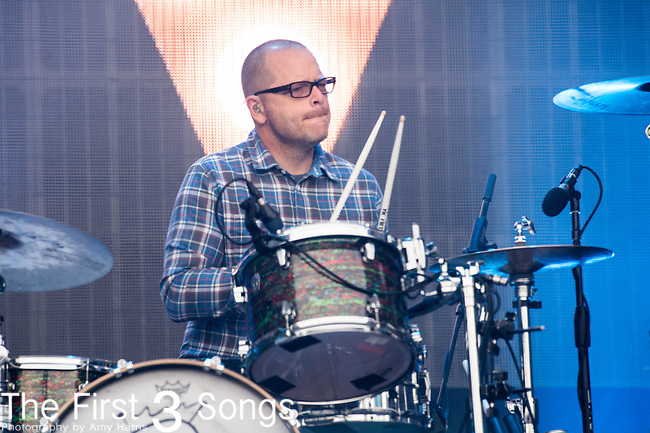 Patrick Wilson of Weezer performs at White River State Park in Indianapolis, Indiana.