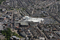 Aerial view of Llanelli town centre