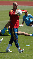 EURO 2012 - POLAND - Gniewino - 13 JUNE 2012 - Spain National Team official MD-1 training. Spanish second goalkeeper Pepe Reina.