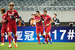 Shanghai FC Forward Givanildo Vieira De Sousa (Hulk) (R) celebrating his score with his teammate Elkeson De Oliveira (L) during the AFC Champions League 2017 Group F match between Shanghai SIPG FC (CHN) vs Western Sydney Wanderers (AUS) at the Shanghai Stadium on 28 February 2017 in Shanghai, China. Photo by Marcio Rodrigo Machado / Power Sport Images