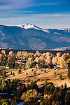 Fall color on Missoula's south hills and Lolo Peak as seen from Mount Sentinel
