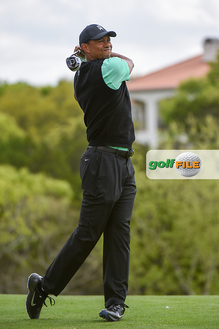 Tiger Woods (USA) watches his tee shot on 3 during day 2 of the WGC Dell Match Play, at the Austin Country Club, Austin, Texas, USA. 3/28/2019.<br /> Picture: Golffile | Ken Murray<br /> <br /> <br /> All photo usage must carry mandatory copyright credit (© Golffile | Ken Murray)