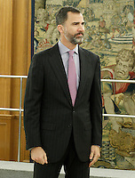 Prince Felipe of Spain during a meeting with a representation of the Financial Genova Club (Club Financiero Genova).January 9 ,2012. (ALTERPHOTOS/Acero) /NortePhoto