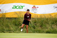 Annie Park (USA) putts on the 18th hole during the ShopRite LPGA Classic presented by Acer, Seaview Bay Club, Galloway, New Jersey, USA. 6/10/18.<br /> Picture: Golffile   Brian Spurlock<br /> <br /> <br /> All photo usage must carry mandatory copyright credit (&copy; Golffile   Brian Spurlock)