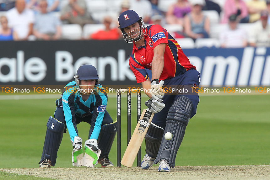 Ryan ten Doeschate hits six runs for Essex - Essex Eagles vs Scotland - Yorkshire Bank YB40 Cricket at the Essex County Ground, Chelmsford - 02/06/13 - MANDATORY CREDIT: Gavin Ellis/TGSPHOTO - Self billing applies where appropriate - 0845 094 6026 - contact@tgsphoto.co.uk - NO UNPAID USE
