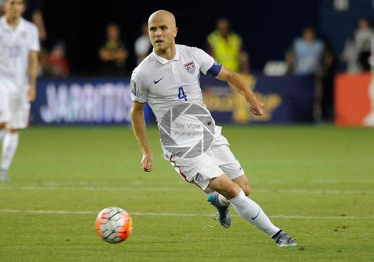 USA Michael Bradley (4). Panama tied the USA 1-1 in a Group A game during the Gold Cup 2015 at Sporting Park in Kansas City, Kansas on Monday July 13, 2015.