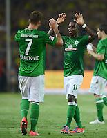 FUSSBALL   1. BUNDESLIGA   SAISON 2012/2013   1. SPIELTAG Borussia Dortmund - SV Werder Bremen                  24.08.2012      Marko Arnautovic (li) und Eljero Elia (re, beide SV Werder Bremen) jubeln nach dem 1:1