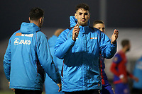 Conor Wilkinson of Dagenham celebrates their victory at the final whistle during Bromley vs Dagenham & Redbridge, Vanarama National League Football at the H2T Group Stadium on 24th November 2018