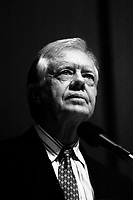 Former President Jimmy Carter speaking at the Boston Public Library January 10, 1993