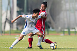 Chen Pujai R&F F.C (L) in action against Michael Luk Chi Ho of Kwoon Chung Southern (R) during the week three Premier League match between Kwoon Chung Southern and R&F at Aberdeen Sports Ground on September 16, 2017 in Hong Kong, China. Photo by Marcio Rodrigo Machado / Power Sport Images