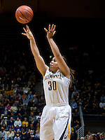 Mikayla Lyles of California shoots the ball during the game against Stanford at Haas Pavilion in Berkeley, California on January 8th, 2013.  Stanford defeated California, 62-53.