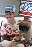 Davey Allison 1st place winner victory lane trophy celebrates Pepsi 400 at Daytona International Speedway in Daytona beach, FL on July 1, 1989. (Photo by Brian Cleary/www.bcpix.com)