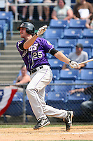 July 7th 2008:  Matt Whitney of the Akron Aeros, Class-AA affiliate of the Cleveland Indians, during a game at NYSEG Stadium in Binghamton, NY.  Photo by:  Mike Janes/Four Seam Images