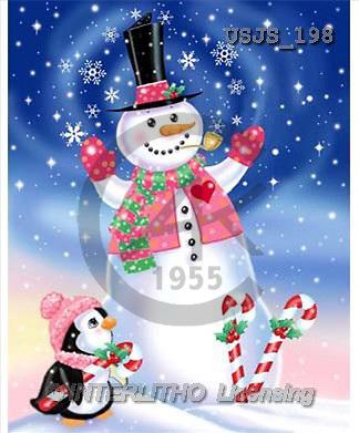 Janet, CHRISTMAS SANTA, SNOWMAN, paintings(USJS198,#X#) Weihnachtsmänner, Schneemänner, Weihnachen, Papá Noel, muñecos de nieve, Navidad, illustrations, pinturas
