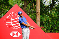 Tony Finau (USA) on the 9th tee during the 2nd round at the WGC HSBC Champions 2018, Sheshan Golf CLub, Shanghai, China. 26/10/2018.<br /> Picture Fran Caffrey / Golffile.ie<br /> <br /> All photo usage must carry mandatory copyright credit (&copy; Golffile | Fran Caffrey)