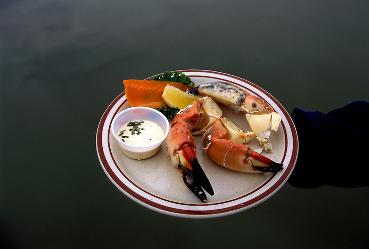 FL: Florida Everglades National Park, cuisine, food, stone crab claws.Photo Copyright: Lee Foster, lee@fostertravel.com, www.fostertravel.com, (510) 549-2202.Image: flever267