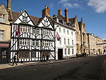 Historic building the Fleece hotel in the town centre, Cirencester, Gloucestershire, England, UK,