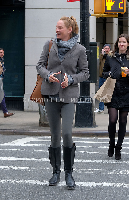www.acepixs.com<br /> <br /> April 11 2018, New York City<br /> <br /> Actress Uma Thurman goes make-up free as she leaves Barneys on April 11 2018 in New York City<br /> <br /> By Line: Curtis Means/ACE Pictures<br /> <br /> <br /> ACE Pictures Inc<br /> Tel: 6467670430<br /> Email: info@acepixs.com<br /> www.acepixs.com