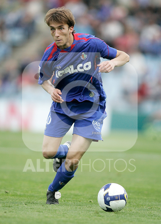 Getafe's Rafa Lopez during La Liga match, April 26, 2009. (ALTERPHOTOS/Alvaro Hernandez).