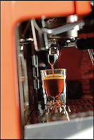 BNPS.co.uk (01202 558833)<br /> Pic: RedEspresso/BNPS<br /> <br /> ***Please Use Full Byline***<br /> <br /> Espresso...tea.<br /> <br /> This tiny shot of dark liquid is set to send shudders through the lucrative drinks trade - because it's the world's first espresso made from tea.<br /> <br /> Although it looks like a regular shot of coffee the revolutionary brew is actually made from finely ground Rooibos, a plant that only grows in a tiny corner of South Africa.<br /> <br /> It is made by forcing water through Rooibos grounds at high pressure creating a drink that looks like an espresso but without the side effects of coffee.<br /> <br /> The wonder drink, called Red Espresso in a nod to the distinctive colour the Rooibos gives it, is caffeine-free and is said to have five times the antioxidants of green tea.<br /> <br /> Red Espresso costs &pound;4.49 for a 250g pouch and can be bought online from Cream Supplies.