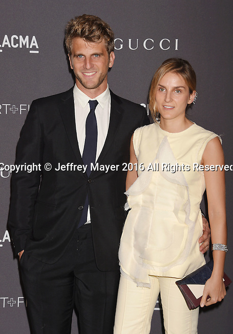 LOS ANGELES, CA - OCTOBER 29: Designers Jeremy Everett (L) and Gaia Repossi attend the 2016 LACMA Art + Film Gala honoring Robert Irwin and Kathryn Bigelow presented by Gucci at LACMA on October 29, 2016 in Los Angeles, California.