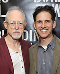 Robert Schenkkan and Ari Edelson attend the press photo call for 'Building The Wall' Ripley-Grier on May 5, 2017 in New York City.