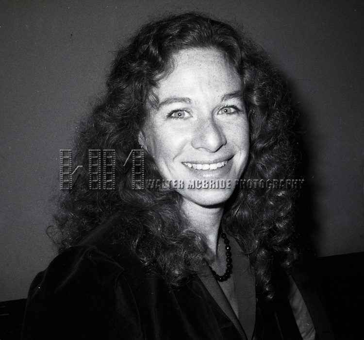 Carole King attends a Gary Hart Campaign Rally on May 1, 1984 in New York City.