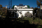 November 2, 2008. Durham, NC..Stephen and Rebekah Hren, of 230 W. Trinity Ave., have created carbon neutral home, using solar heat, hot water and electrical solar options.
