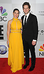 America Ferrera and Ryan Piers Williams arriving at the NBCUniversal Golden Globes After Party Red Carpet held at the Beverly Hilton Hotel Los Angeles Ca. January 10, 2016