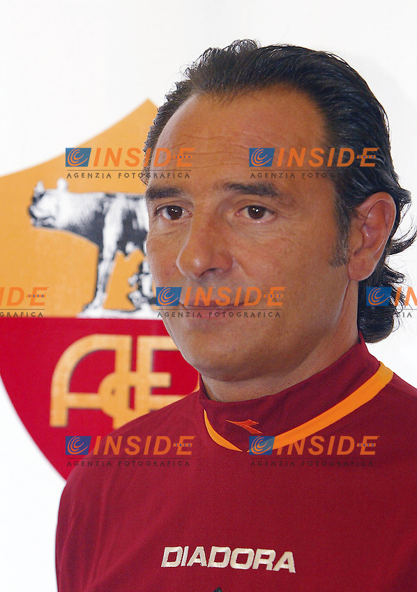 Roma 14/7/2004 <br /> Conferenza stampa dell'allenatore dell'AS Roma Cesare Prandelli nel centro sportivo di Trigoria.<br /> Photo Andrea Staccioli Insidefoto