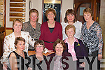 Old friends exchanging stories at the Glenflesk ladies GAA 25th anniversary celebrtions in Darby O'Gills Killarney on Friday night were seated l-r: Eilish Doherty, Eileen Doherty, Mary Moynihan, Joan Kelleher, Maureen O'Donoghue. Back row: Eileen Gleeson, Maureen Donovan,Peggy O'Donoghue and Eileen Crowley    Copyright Kerry's Eye 2008
