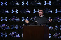 Baltimore Ravens head coach, John Harbaugh, held a press conference at Under Armour Performance Center in Owings Mills on Thursday morning.