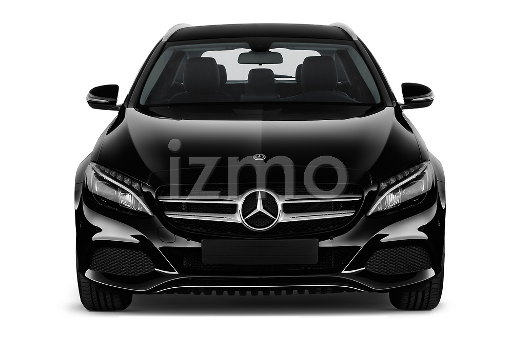 Car photography straight front view of a 2018 Mercedes Benz C Class Base 5 Door Wagon