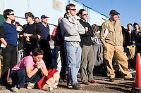 Volunteers for Common Ground gather early in the morning in the city of New Orleans on November 23, 2005.  Common Ground is a grass roots organization that set up shop in New Orleans almost immediately in the aftermath of Hurricane Katrina, outpacing much of the official government response in handing out vital needs and services to displaced people.