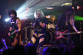 FORT LAUDERDALE, FL - NOVEMBER 03: Satchel, Michael Starr, Stix Zadinia and Lexxi Foxx of Steel Panther perform at The Culture Room on November 3, 2017 in Fort Lauderdale, Florida. : Photo By Larry Marano © 2017
