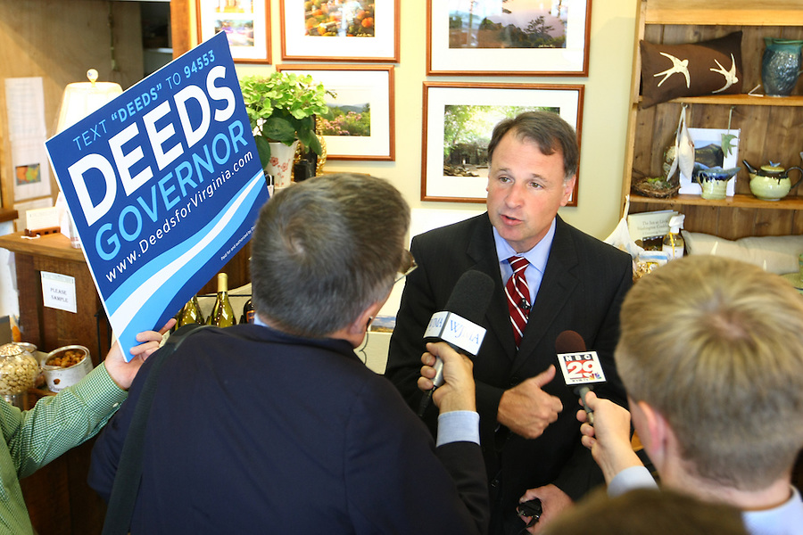 Senator Creigh Deeds running as the democratic nominee for the Virginia Governor in Charlottesville, VA.