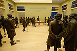 National Constitution Center, signers of the Constitution, sculptures..Philadelphia, Pennsylvania, PA USA.  Photo copyright Lee Foster, 510-549-2202, lee@fostertravel.com, www.fostertravel.com.  Photo 283-30588