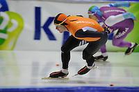 SCHAATSEN: HEERENVEEN: 01-02-2014, IJsstadion Thialf, Olympische testwedstrijd, Stefan Groothuis, Hein Otterspeer, ©foto Martin de Jong